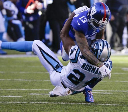 Fined for crack block vs. Saints, Odell Beckham Jr. facing suspension if he's flagged again