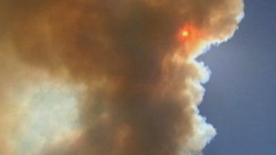 Wildfire Burning Near Sequoia National Forest