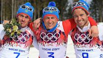 Russia sweeps cross country 50-kilometer mass start