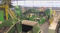 Behind the scenes of Waste Management's Single Stream Recycling Center