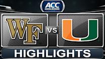 Wake Forest vs Miami | 2014 ACC Women's Basketball Highlights