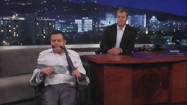 Damon 'hijacks' Kimmel's ABC show