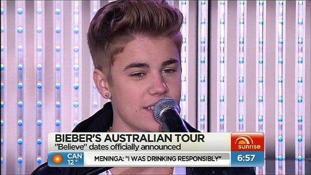 Bieber announces Australian tour