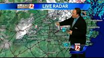 High winds and snow flakes in the Triad?
