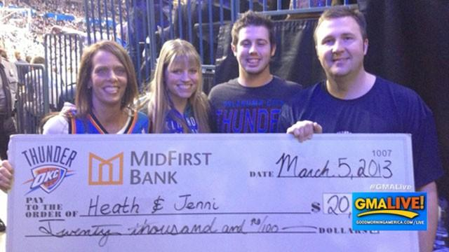 Half Court Shot Wins $20,000 For Wife' Cancer Treatment