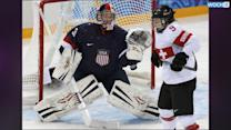 US Beats Swiss 9-0 In Olympic Women's Hockey
