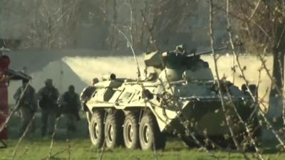 Raw: Pro-Russian Forces Storm Ukrainian Air Base