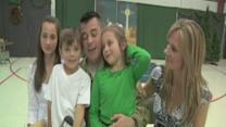 Air Force Dad Surprises Kids
