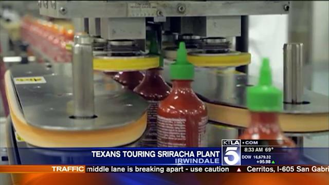 Tx lawmakers visit embattled Sriracha plant