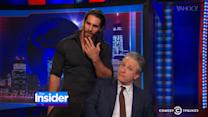 Jon Stewart Kicks Wrestler Below the Belt