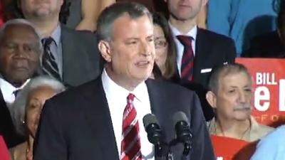 De Blasio Gets Decisive Win in NYC Mayor's Race