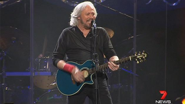 Barry Gibb lights up Brisbane