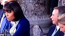 First Lady Rolls Eyes at John Boehner During Lunch