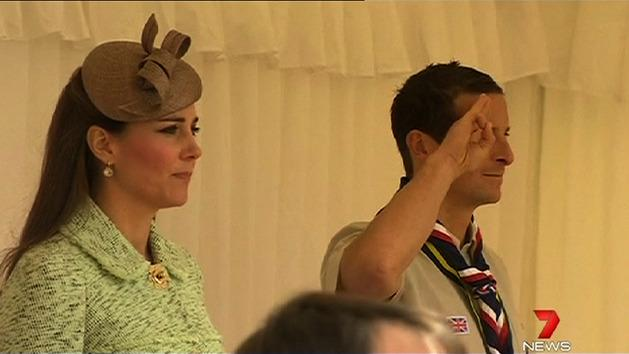 Duchess of Cambridge honours scouts