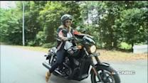 CNBC anchor takes a ride in Harley Davidson Street 750