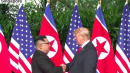 Trump And Kim Jong Un Shake Hands Ahead Of Historic North Korea Summit