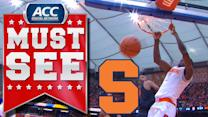 Syracuse F Jerami Grant's Vicious Two-Handed Dunk   ACC Must See Moment