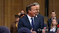 Cameron welcomes troops returning from Afghanistan