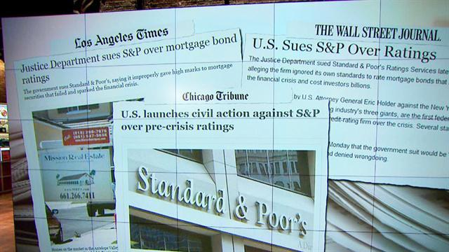 Gov. suing S&P for toxic asset ratings
