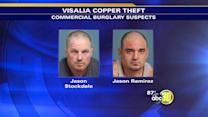 Visalia copper wire thieves arrested