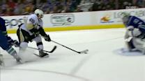 Brian Gibbons goes five-hole off the rush