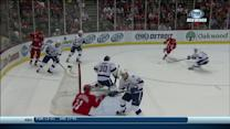 Henrik Zetterberg fires a laser over Bishop