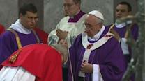 Raw: Pope Performs First Ash Weds. As Pontiff