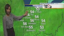 Thursday's Forecast: Partly cloudy with highs in the upper 50s