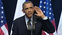 Obama Faces Heckler, Gets Standing Ovation