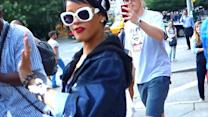 Rihanna Tells Crowds To Get Out Of Her Way In New York City