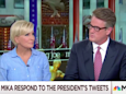 Joe Scarborough says congressman called him after a red-faced Trump went on 'vicious' rant about Mika Brzezinski and blood during healthcare meeting