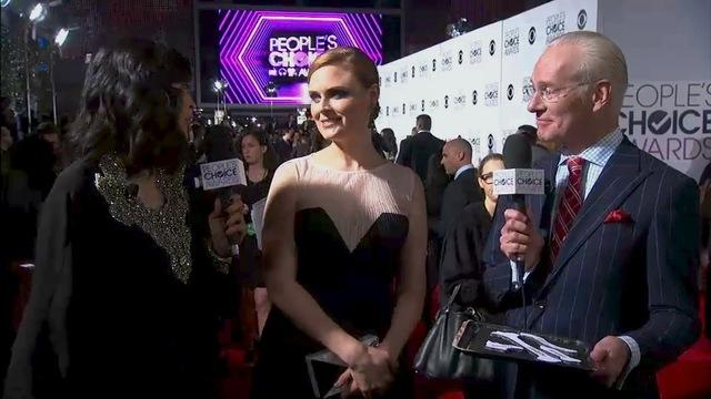 40th Annual People's Choice Awards - Red Carpet Interview: Emily Deschanel