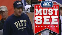 Pittsburgh Head Coach Calls a Last Second Timeout to Prevent a Syracuse TD | ACC Must See Moment