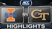 Illinois vs Georgia Tech | 2013 ACC Basketball Highlights