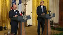 French President Joins Obama at White House News Conference