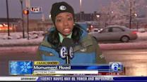 Melissa Magee reports outside 6abc studios