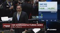 ISM nonmanufacturing index: 55.7
