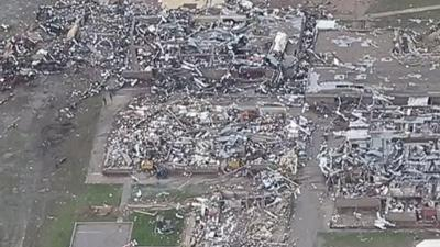 Raw: Aerial View of Moore Tornado Damage