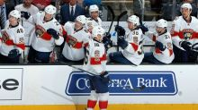 NHL Three Stars: Panthers survive at Sharks; Hutton blanks Red Wings