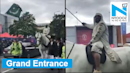 India vs Pakistan: Pak fan arrives at Old Trafford on a horse