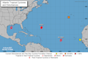 Juggling tropical Storms Wilfred, Beta, Hurricane Teddy and a new wave. That's a record