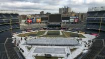 Raw: Ice Rinks at Yankees, Dodgers Stadiums
