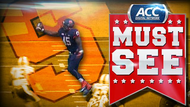 Syracuse's Jerome Smith Uses One Hand for TD Catch | ACC Must See Moment