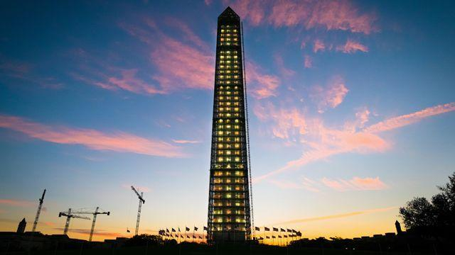 Lights out at Washington Monument