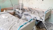 In Gaza, a Hospital Hit by an Artillery Strike