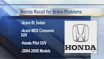 Honda recall for brake problems