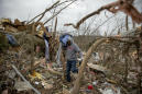 The Latest: Weather Service counts 18 tornadoes in Southeast