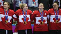 U.S. women fall to Canada in Olympic hockey final