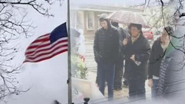 Funeral service for 3 children and 2 adults