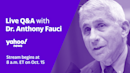 Live: Dr. Anthony Fauci joins Yahoo News to discuss the coronavirus pandemic